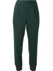 Muveil Tapered Trousers Green