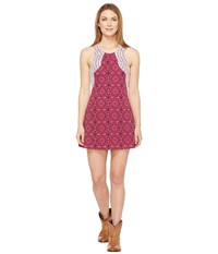 Rock And Roll Cowgirl Sleeveless Dress 19 8234 Hot Pink Women's Dress