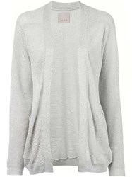Laneus Ribbed Open Front Cardigan Women Polyamide Polyester Viscose 44 Nude Neutrals