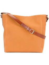 Lanvin Large Open Shoulder Bag Yellow Orange