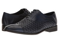 Messico Nereo Navy Leather Shoes Blue