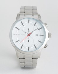 French Connection Regent Mk Ii Quartz Watch Silver