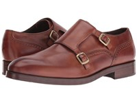 Cole Haan Harrison Grand Double Monk British Tan Dark Natural Men's Shoes Red
