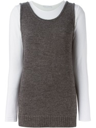 Societe Anonyme 'Supertank' Top Grey