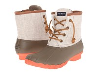 Sperry Saltwater Hemp Canvas Taupe Natural Women's Rain Boots