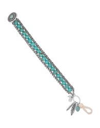 Lucky Brand Turquoise Feather Charm Bracelet