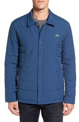Lacoste Men's Quilted Water Resistant Car Coat Philippines Blue Navy