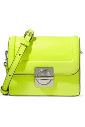 Marc By Marc Jacobs Jax Neon Textured Leather Shoulder Bag Yellow