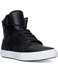 Supra Men's Skytop High Top Casual Sneakers From Finish Line Black White