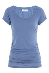 Velvet Cotton T Shirt Blue
