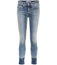 Calvin Klein Jeans Cropped Skinny Blue