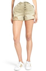 Sun And Shadow Women's Destroyed High Rise Denim Shorts