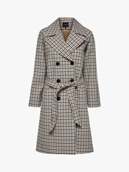 Selected Femme Anka Check Belted Coat Multi