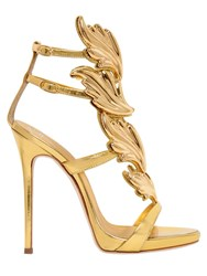 Giuseppe Zanotti 120Mm Leaf Mirror Leather Sandals