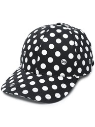 Dolce And Gabbana Polka Dot Print Baseball Cap Black