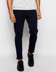 Pull And Bear Pullandbear Twill Chino Joggers Navy