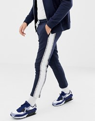 Jack And Jones Core Side Taping Joggers Sky Captain Navy