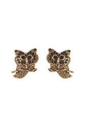 Marc Jacobs Embellished Owl Earrings Gold