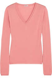 Miu Miu Cashmere And Silk Blend Sweater Pink