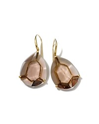 Ippolita Gemma 18K Large Smoky Quartz Drop Earrings Women's