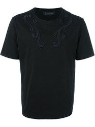 Christian Pellizzari Embroidered Detail T Shirt Black