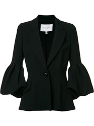 Carolina Herrera Puffed Sleeve Jacket Black