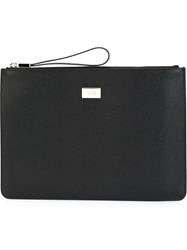 Tod's Zipped Clutch Black