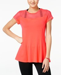 Jessica Simpson The Warm Up Juniors' Mesh T Shirt Only At Macy's Glowing Ember