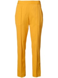 Rosie Assoulin Tailored Slim Fit Trousers Yellow Orange