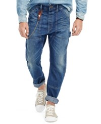 Denim And Supply Ralph Lauren Slim Fit Dropped Carpenter Jeans Blue