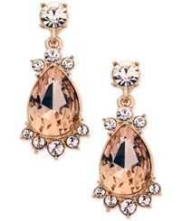 Givenchy Rose Gold Tone Framed Crystal Earrings