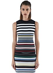 Preen Line Adel Striped Knit Tank Top Multicolour
