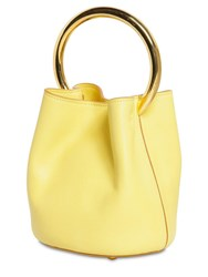 Marni Pannier Leather Bucket Bag Yellow