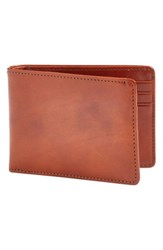 Bosca Small Bifold Wallet Brown Amber