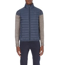 Armani Jeans Quilted Shell Gilet Blue