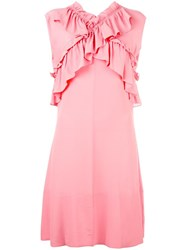Marni Ruffled Dress Pink Purple