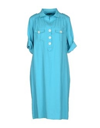 Antonio Fusco Knee Length Dresses Turquoise