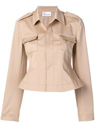 Red Valentino Corset Back Jacket Neutrals