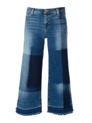 J Brand Cropped Wide Leg Jeans Blue