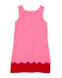 Kate Spade Sleeveless Bow Back Ponte Shift Dress Pink Red