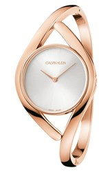 Calvin Klein Party Bangle Watch 28Mm Rose Gold Silver