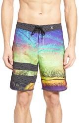 Hurley Men's Phantom Block Party Niuolahiki Board Shorts Multi