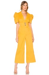C Meo Collective Subscribe Jumpsuit Yellow