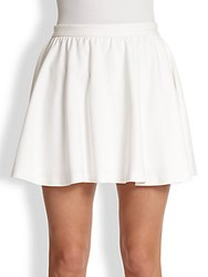 Alice Olivia Blaise Flared Mini Skirt White