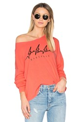 Wildfox Couture Electric Top Coral