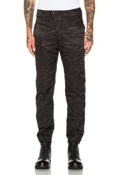 Engineered Garments E 1 Over Hourglass Quilted Twill Lining Pants In Black