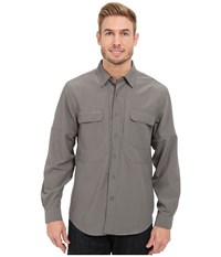 Royal Robbins Expedition Stretch L S Pewter Men's Long Sleeve Button Up