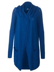 Lavand Long Cardigan With Two Pockets Blue