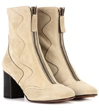 Chloe Exclusive To Mytheresa.Com Suede Ankle Boots Beige