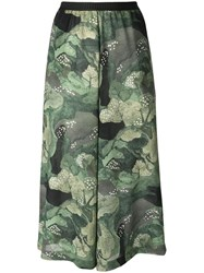 Antonio Marras Tree Print Cropped Trousers Green